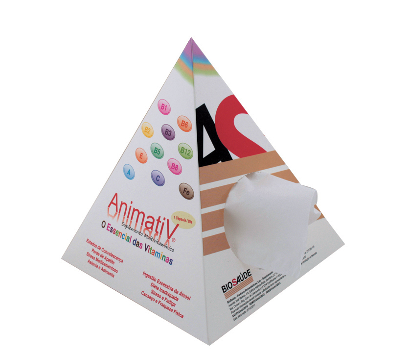 Small Pyramid Tissue Box